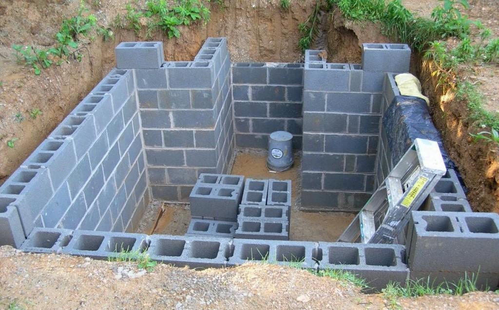 Устройство подвала: толщина стен и глубина