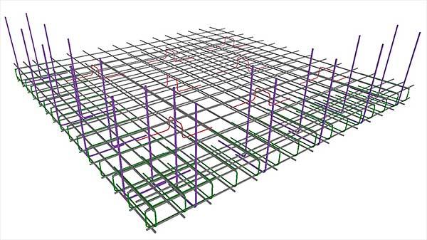 Онлайн калькулятор расчета размеров, арматуры и количества бетона монолитного ленточного фундамента.