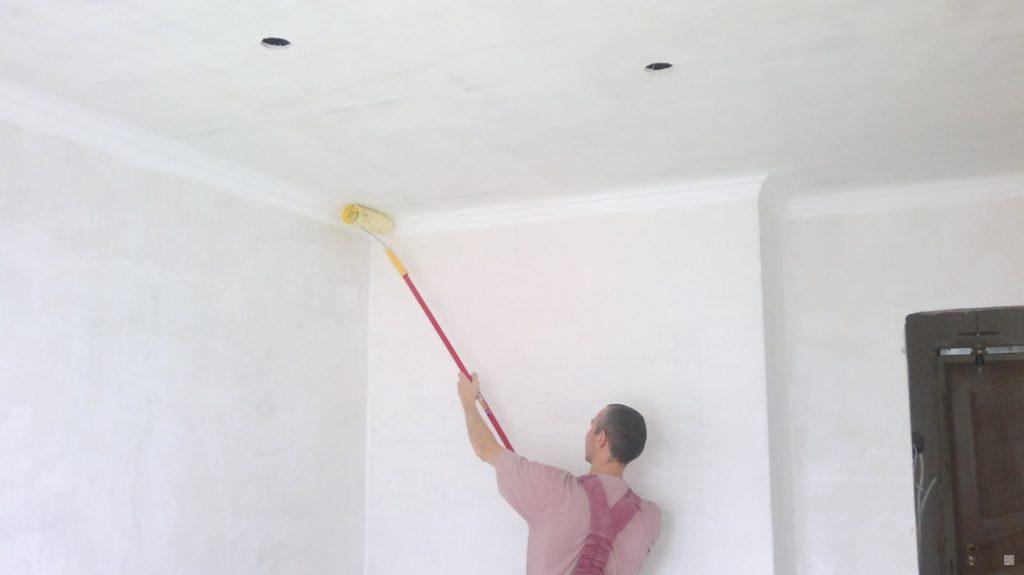 Меловая побелка потолка и стен