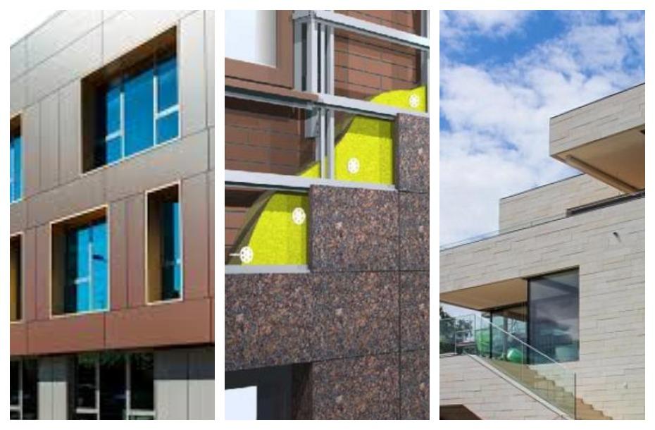Вентилируемые фасады: достоинства и недостатки технологии, используемые материалы