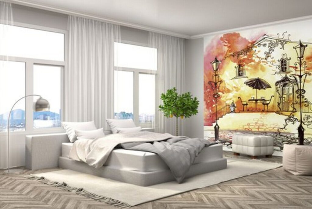 Как поклеить обои двух видов (фото): виды поклейки в зале, варианты дизайна стен с разными обоями и правила комбинирования