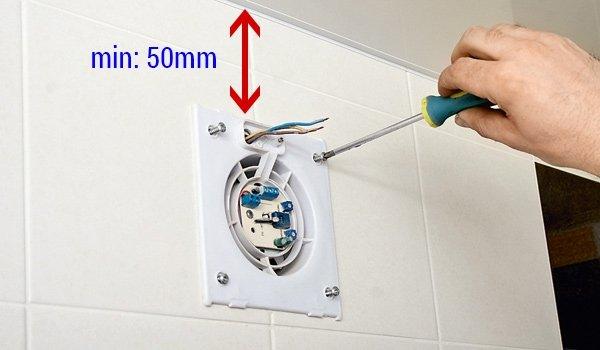 Подключение вентилятора в туалете