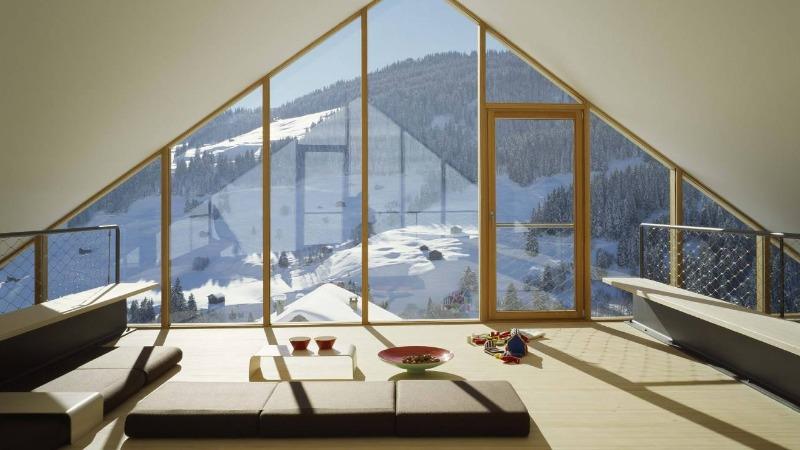 Мансарда с панорамными окнами
